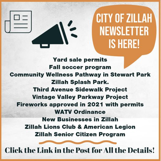 City of Zillah Newsletter
