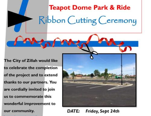 Teapot Dome Park and Ride Ribbon Cutting